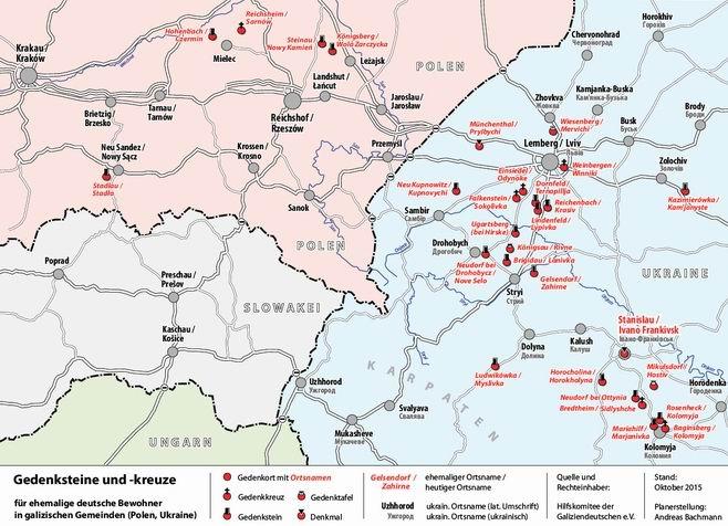 Galizien Karte.Gedenkstätten Hilfskomitee Der Galiziendeutschen E V